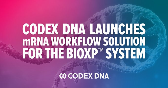 Codex DNA Expands End-to-End Automated Synthetic Biology Workstation Enabling High Throughput Synthesis from DNA Sequence to Biologically Active mRNA